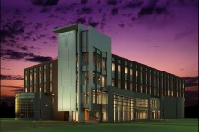 An artist's rendering of the new George T. Harrell, M.D., Medical Education Building.