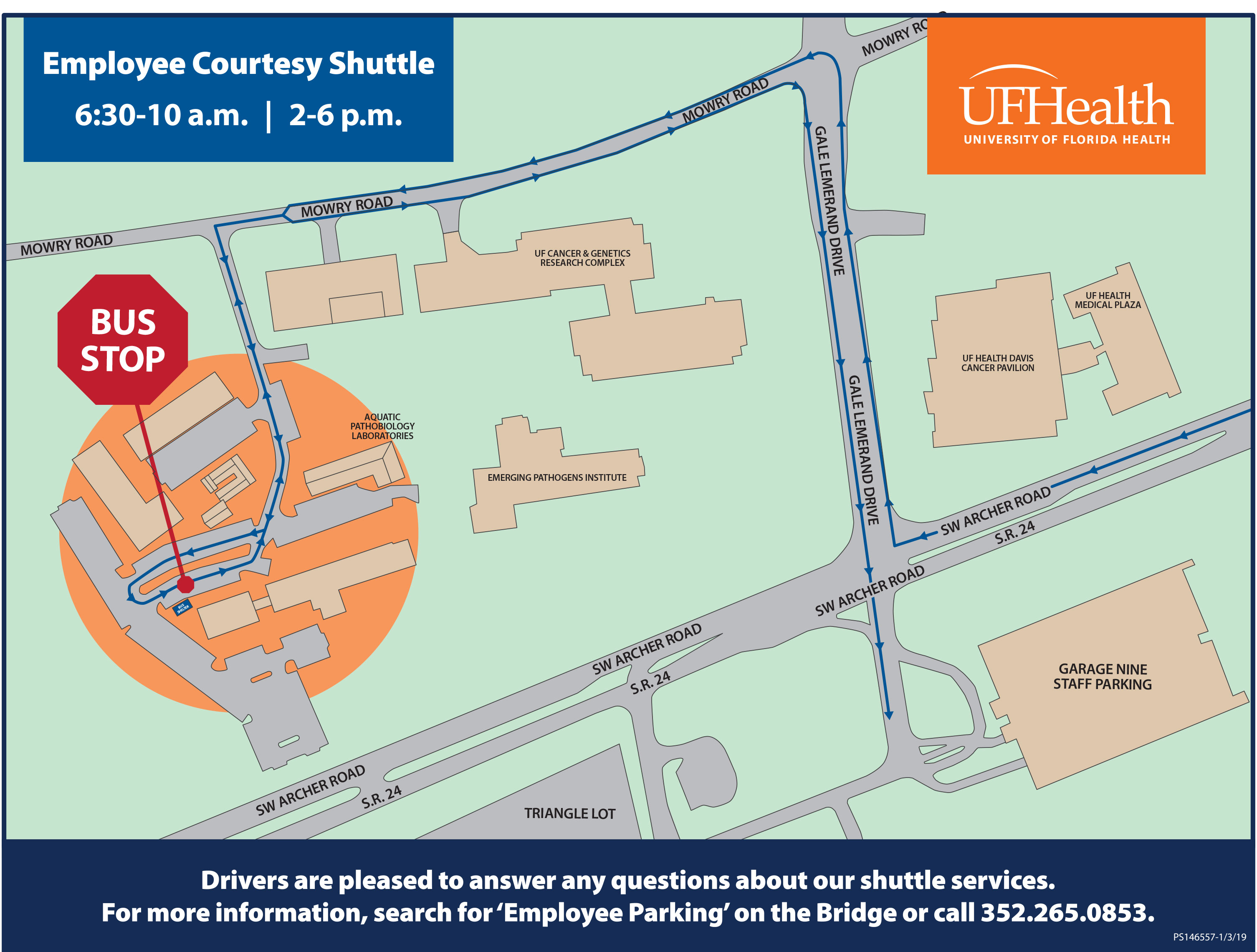 Map University Of Florida.Parking Update Archer Road Parking Lot Opens Jan 7 With Employee