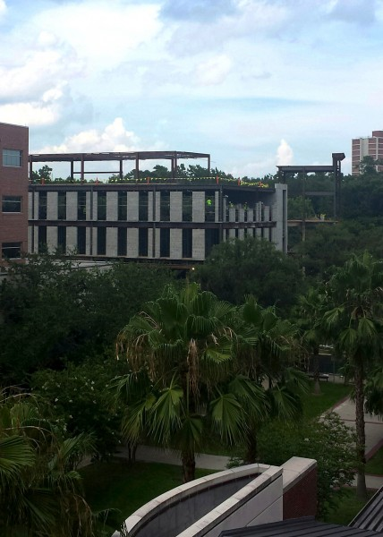 The latest progress on the George T. Harrell, M.D., Medical Education Building as of Thursday, July 10.