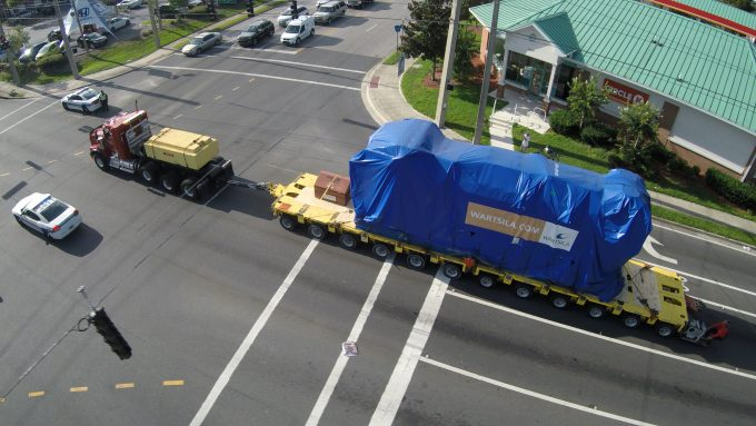 The generator makes its way through Gainesville.