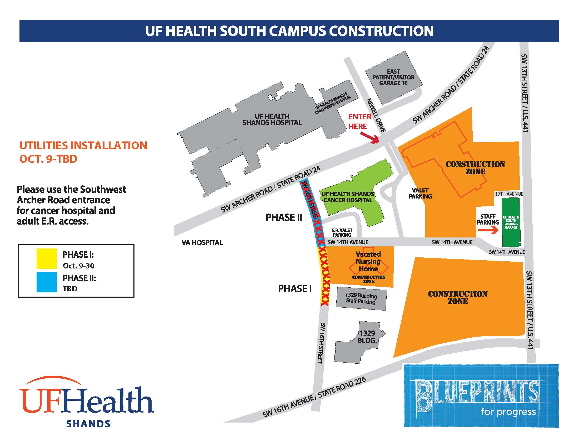 Map University Of Florida.Update Sw 16th Street Repaving Project Complete Blueprints For