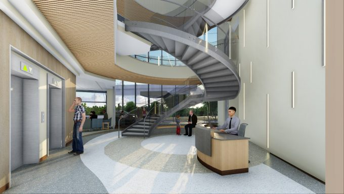 MOB -elevator lobby stairs