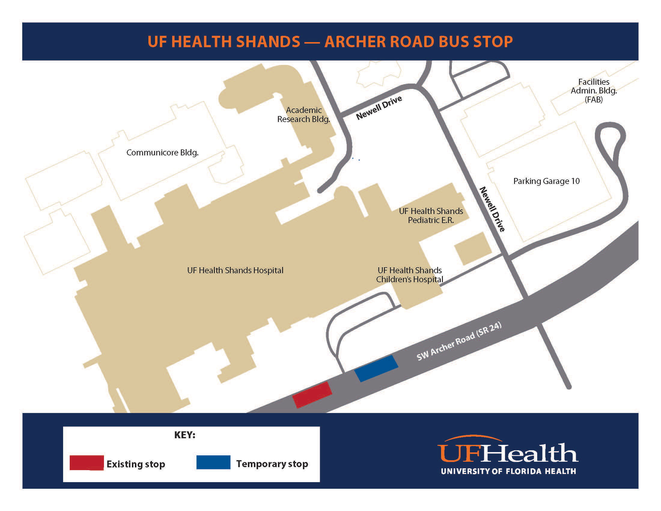 University Of Florida Location Map.Archer Road Bus Stop Temporary Relocation At Front Circle Now